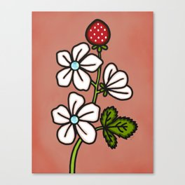 Strawberry Bloom Canvas Print