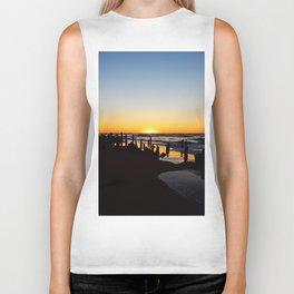 Wharf Beach Sunset Biker Tank