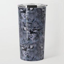 Abstract black blue pattern Travel Mug