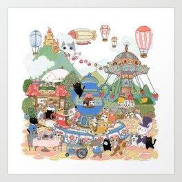 Tea cup Ride Art Print