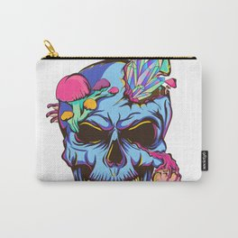 Psychedelic Crystal Skull Carry-All Pouch