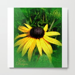 Black Eyed Susan Painted Photo Metal Print
