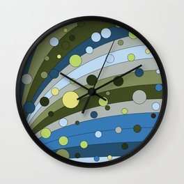 Lined bubbles 2 Wall Clock