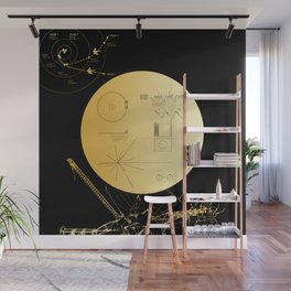 Voyager 1 Golden Record #3 Wall Mural