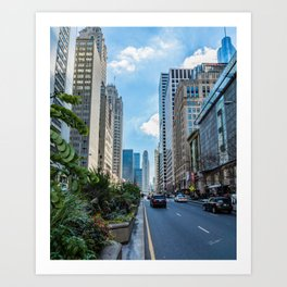 Chicago's Michigan Avenue Art Print