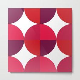 Red Circle Pattern II Metal Print