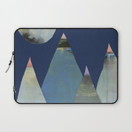 Full Moon Night Sky and Mountains Laptop Sleeve