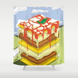 Lasagna is the BEST Shower Curtain