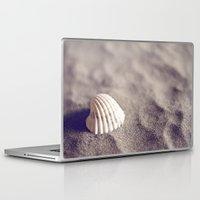 seashell Laptop & iPad Skins featuring Seashell by Dena Brender Photography