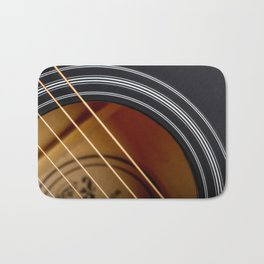 Guitar String Abstract 4 Bath Mat
