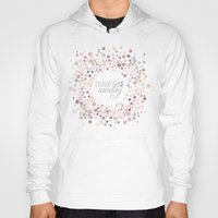 champagne Hoodies featuring Champagne Sunday by Twine Design