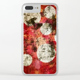 Red Morning Sky Clear iPhone Case