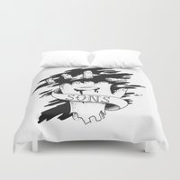 anarchy Duvet Covers featuring Sons of Anarchy - Hand by Christiano Mere