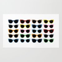 sunglasses Area & Throw Rugs featuring Sunglasses #2 by Project M