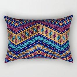 Colorful Boho Zig Zag Gypsy Rectangular Pillow
