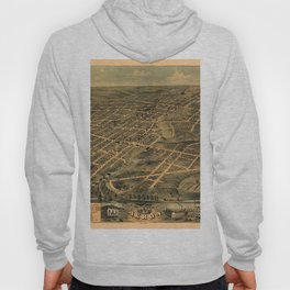Map Of Akron 1870 Hoody