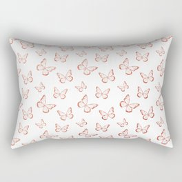Rose Gold Butterflies Rectangular Pillow