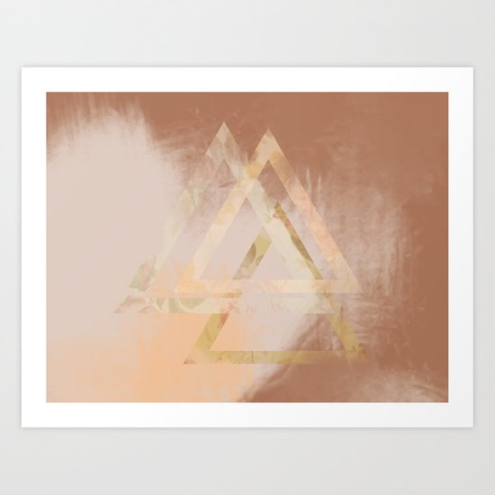 Floral Triangles Art Print