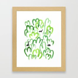 Animals in the forest Framed Art Print