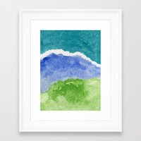 salt water Framed Art Prints featuring Salt Water by Beth Thompson
