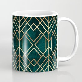 Dark Teal Geo Coffee Mug