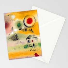 Paul Klee Winter Day Stationery Cards