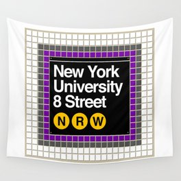 subway nyu sign Wall Tapestry