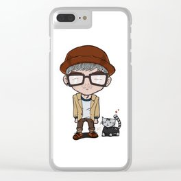 Cat and a Hat Clear iPhone Case