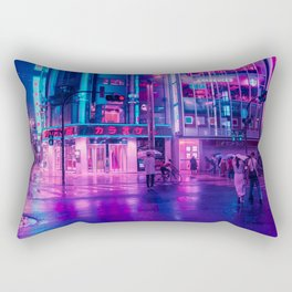 Neon Nostalgia Rectangular Pillow