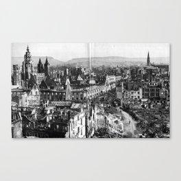 Heilbronn after the end of the Second World War Canvas Print