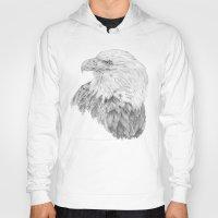 eagle Hoodies featuring Eagle by Ora Kolmanovsky