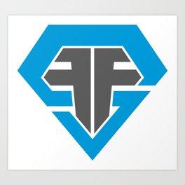 Finish Strong Fitness Logo Art Print