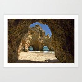 Caves at Alvor, Portugal Art Print