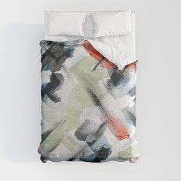PAINTING Gold,  Copper and Silver Minimalism  Comforters