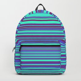 Blue Purple Candy Lines Backpack