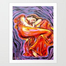 Flaming June at Night Art Print