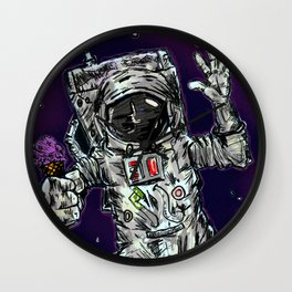 In Space No One Can Hear You Scream For Ice Cream Wall Clock