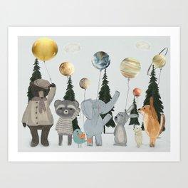 the solar parade Art Print