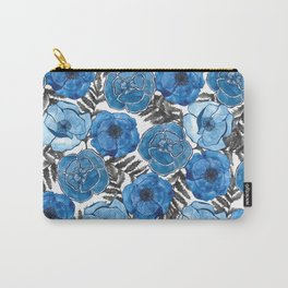 The Poppy blue Carry-All Pouch