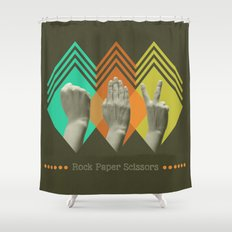 rock paper scissors Shower Curtain