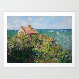 Fisherman's Cottage on the Cliffs at Varengeville Claude Monet Art Print