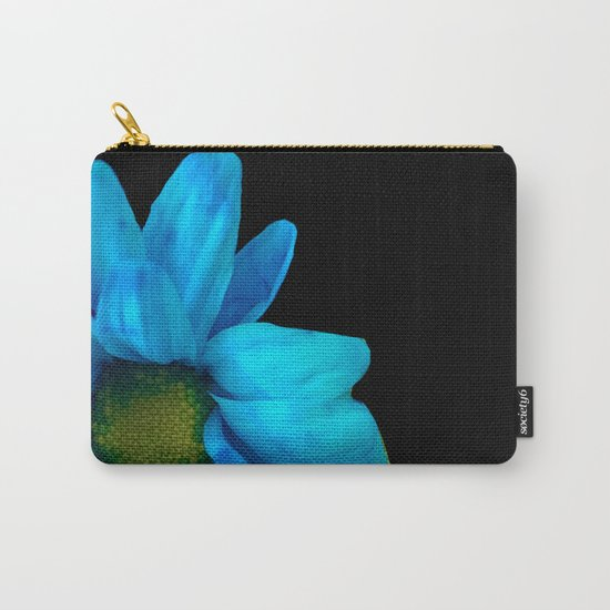 Blue Petals Carry-All Pouch