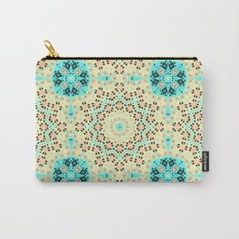 Colorful yellow turquoise ornament . Carry-All Pouch