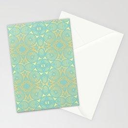 eau de nil flowerpower series Stationery Cards