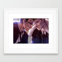 pacific rim Framed Art Prints featuring Pacific Rim by magemg