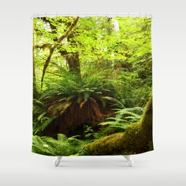 Rainforest Ferns Shower Curtain
