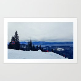 ski resort Art Print
