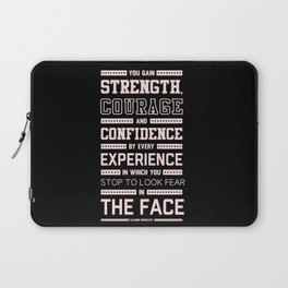 Lab No. 4 Strength Does Not Come Arnold Schwarzenegger Motivational Quote Laptop Sleeve