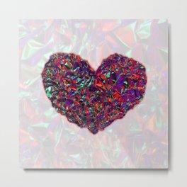 Kiss Me: Valentine's Heart Metal Print