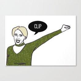 Clip Canvas Print